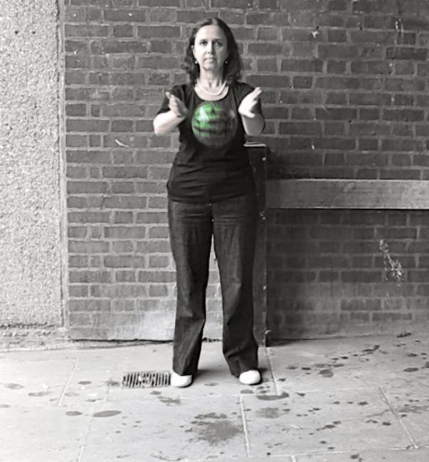 Woman drops a water melon