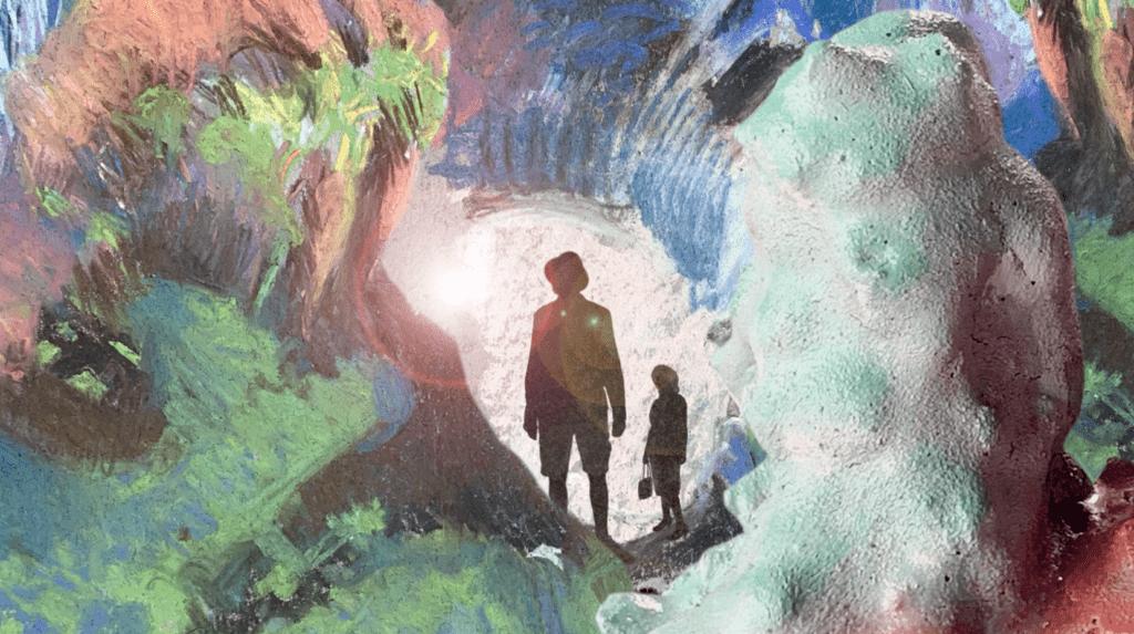 still of visitor caves